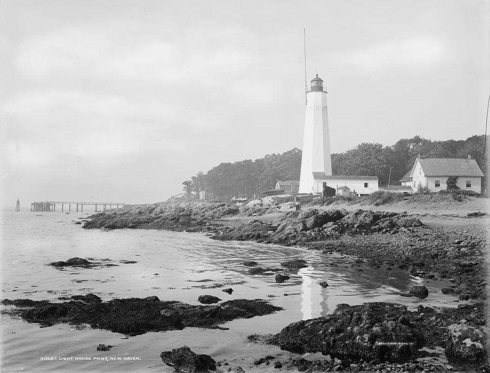 Image of the Five Mile Point Light, circa 1901-1906.