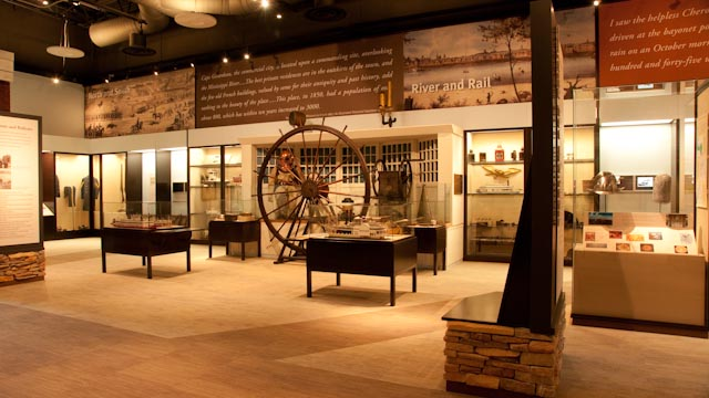 View of the exhibit about Missouri river history