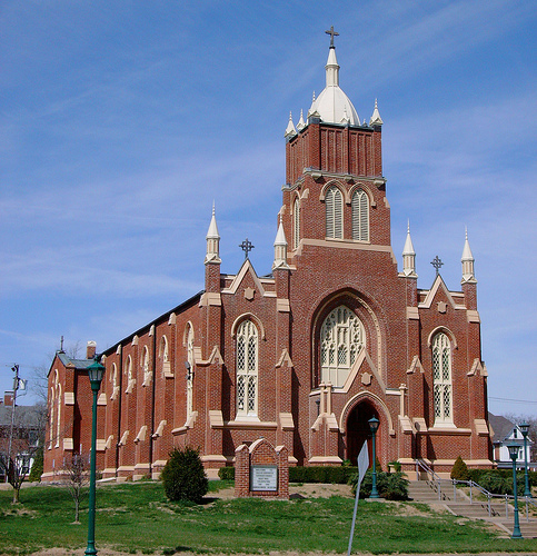 Old. St. Vincent's Church was built in 1853.