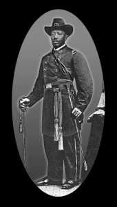 Martin Delany in his Union Officer's uniform .