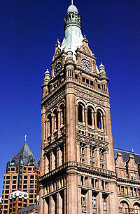 Milwaukee City Hall's clock tower