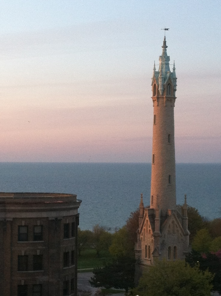 North Point Water Tower stands near Lake Michigan (Credit: Melinda Larson-Horne)