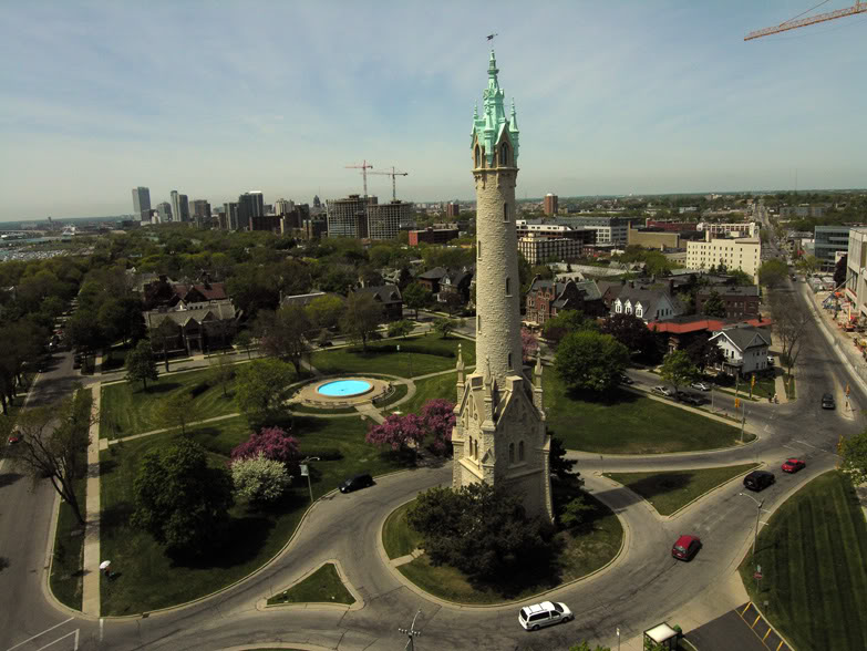 North Point Water Tower from above (Credit: Craig Wilson)
