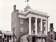 The first Rochester Courthouse building, built in 1822