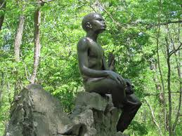 The statue of carver as a boy