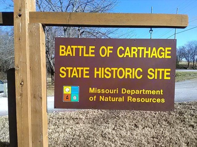 Entrance signage on East Chestnut Street just beyond Carter Park.