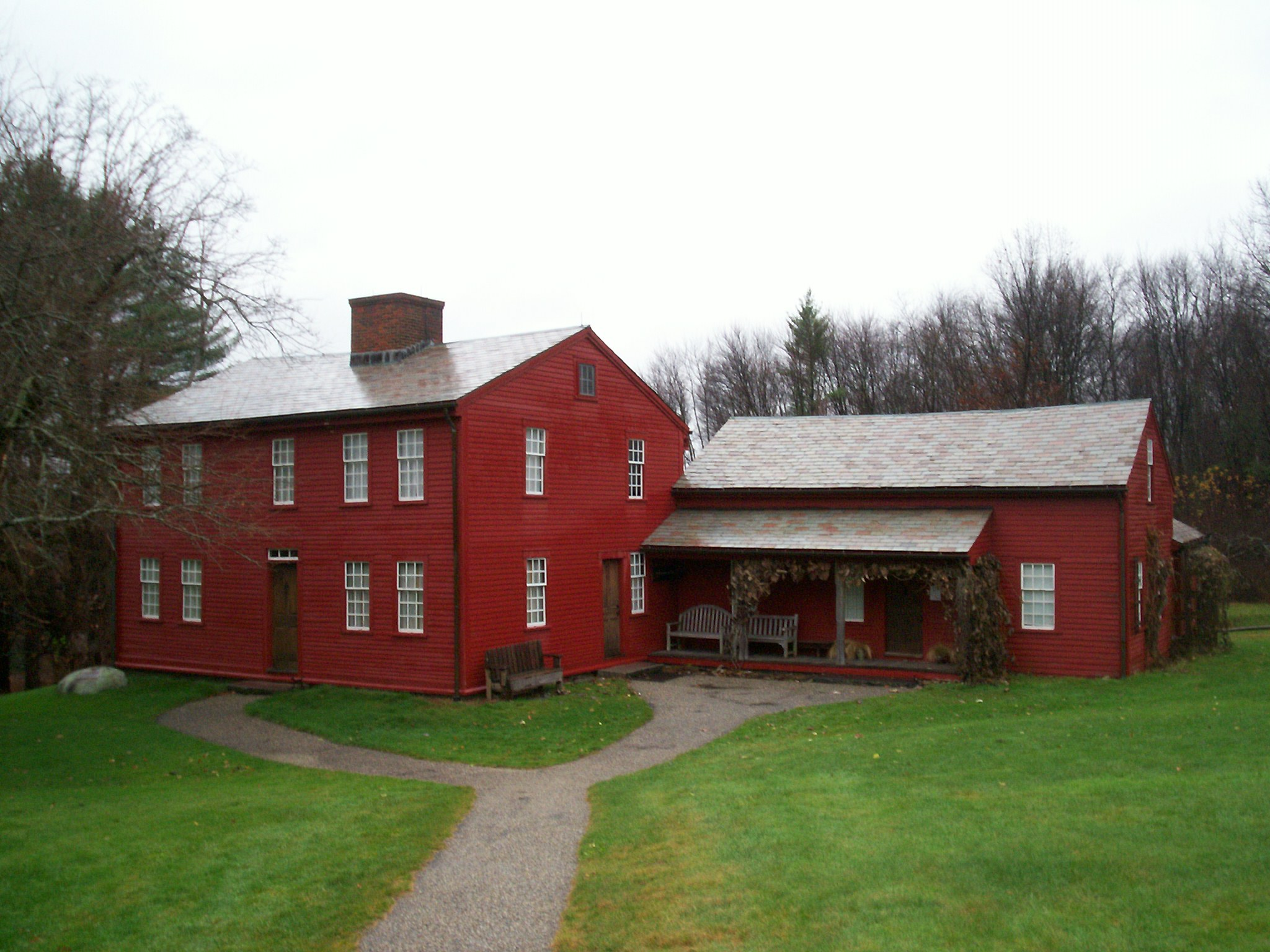The Fruitlands Farmhouse.