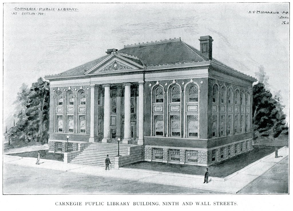 August C. Michaelis library plans