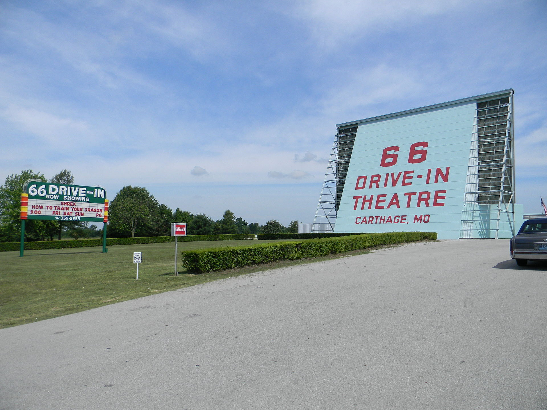 Entrance to the theater