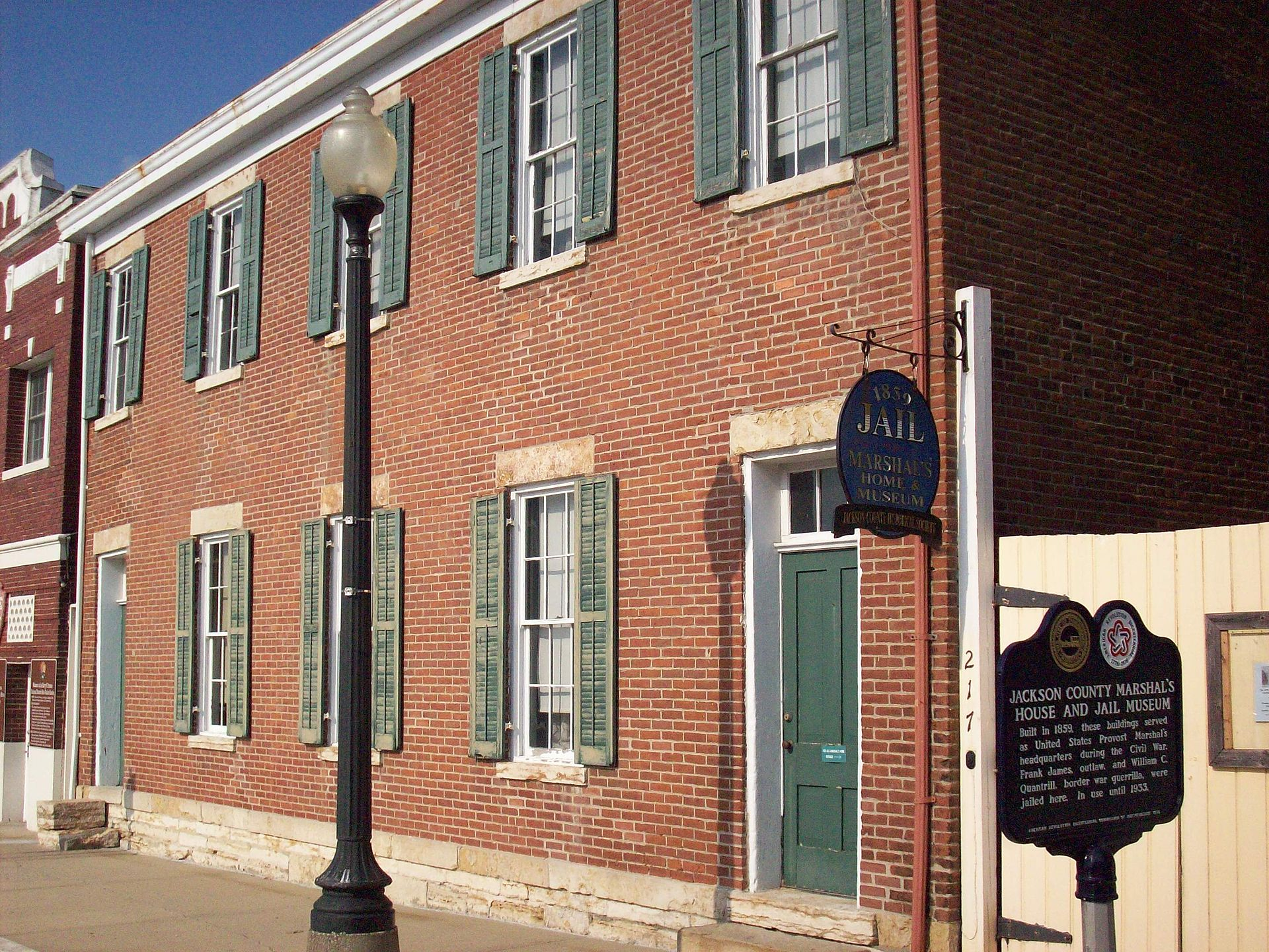 The Jackson County Jail and Marshal's House was erected in 1859 and is now a museum operated by the Jackson County Historical Society.
