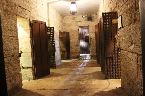 A look inside where the jail cells are located