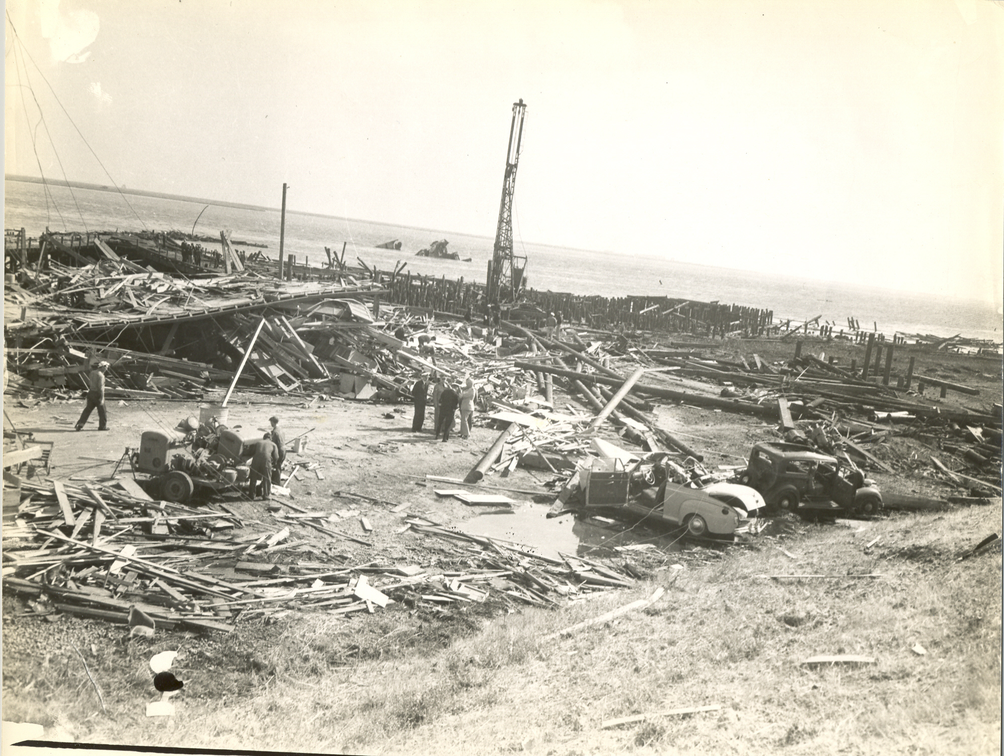 Aftermath of the explosion