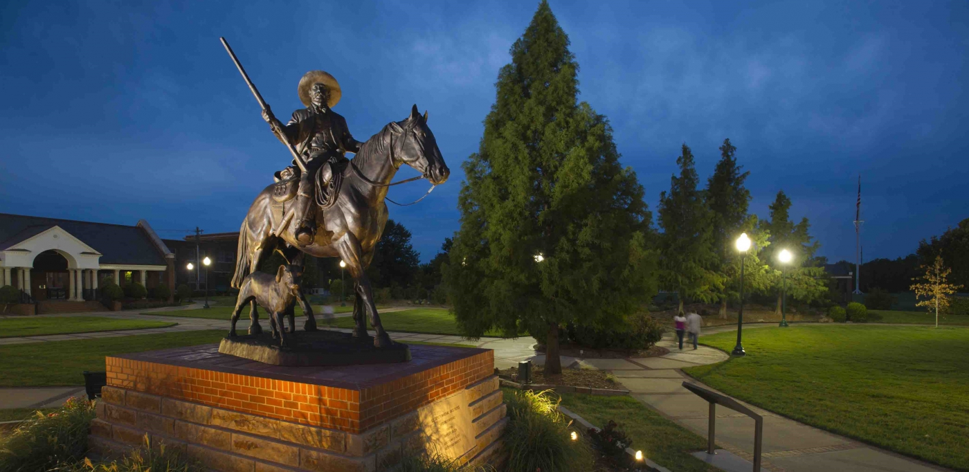 Bass Reeves Statue.