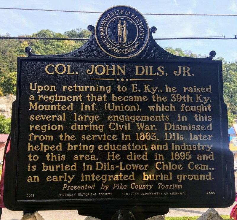 2nd sign marking the resting place of Col. John Dils