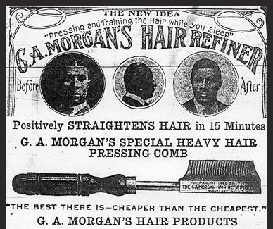 An advertisement for Morgan's hair care products.
