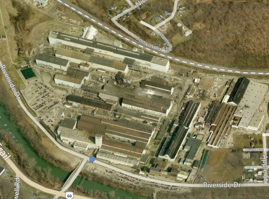 Aerial view of the nickel plant