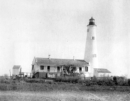 The lighthouse in earlier times.