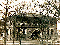 Pattee Hall was the first permanent home of the Law School, from 1889-1928