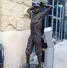 The statue of Satchel Paige in PNC Park