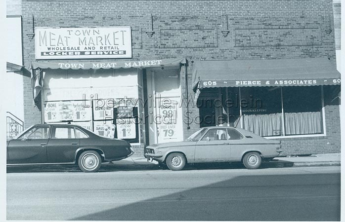 Town Meat Market and Pierce and Associates, circa 1974-1976