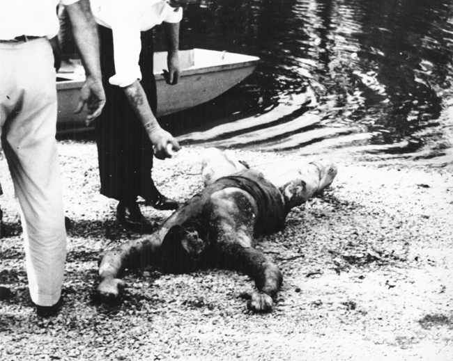 The gruesome remains of Parker after his body was found in the Pearl River