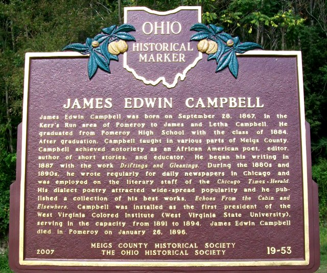Jame's E. Campbell's historical marker.