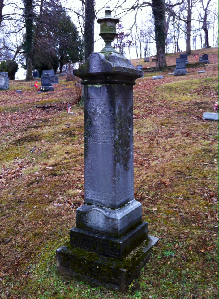 A look at Campbell's grave located in Beech Grove Cemetery, Meigs County, Ohio.