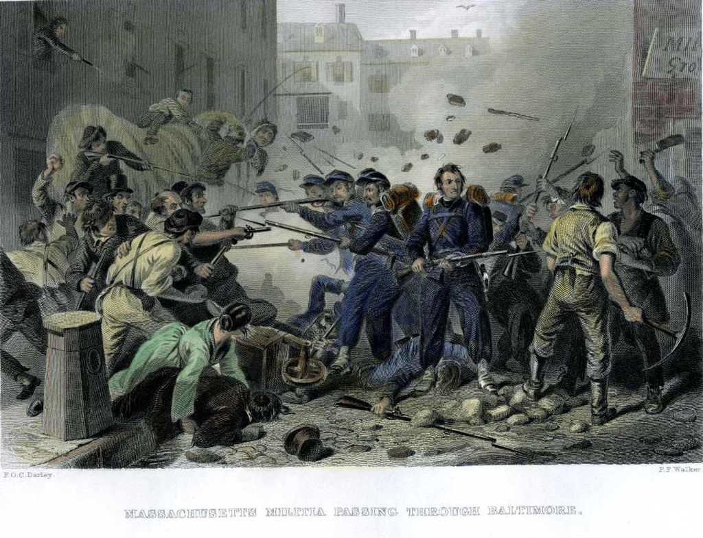 On April 19, 1861, Confederate sympathizers attacked Union troops as they passed through the city.