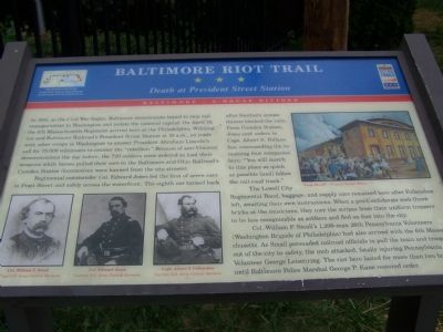 This historic marker is located next to a small Civil War museum.