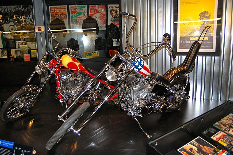 Highlights of the museum include this replica of the Captain America bike from the iconic Hollywood movie Easy Rider.