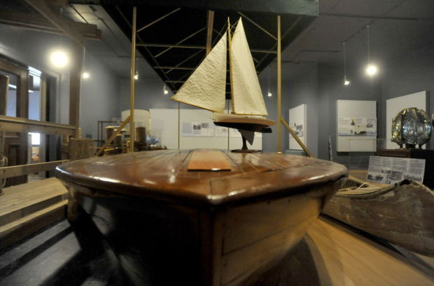 Historic boats in the Racine Heritage Museum (photo from the Journal Times)