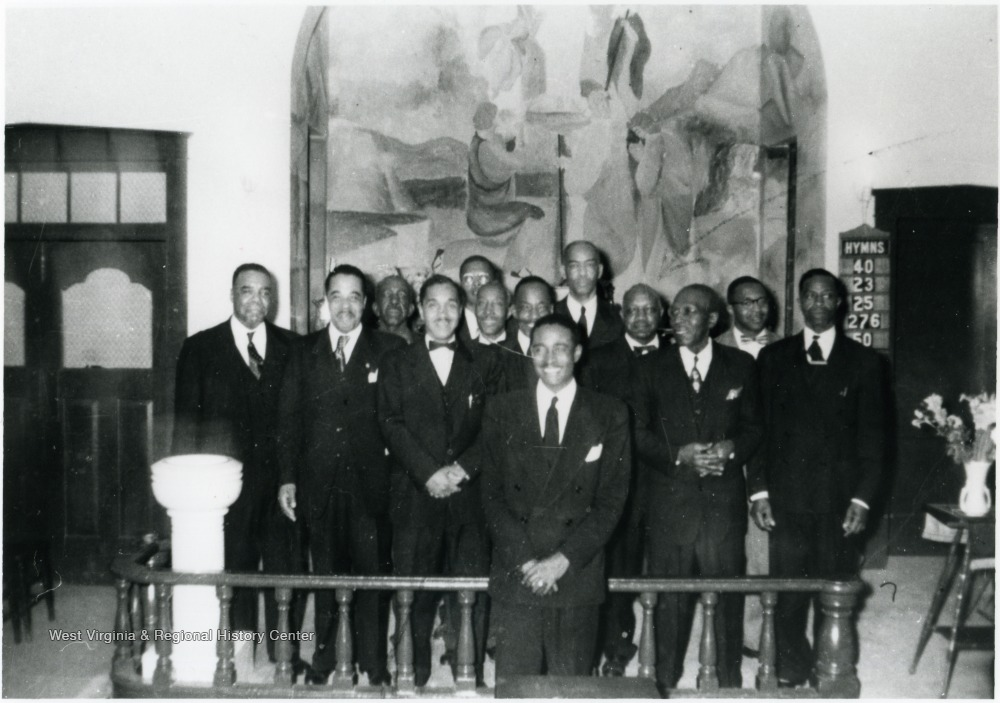 Undated photo of male choir at St. Paul A.M.E.