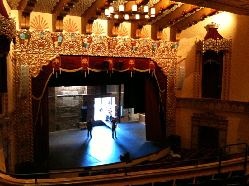 The inside of the theater shows the ornate details that have been meticulously restored.