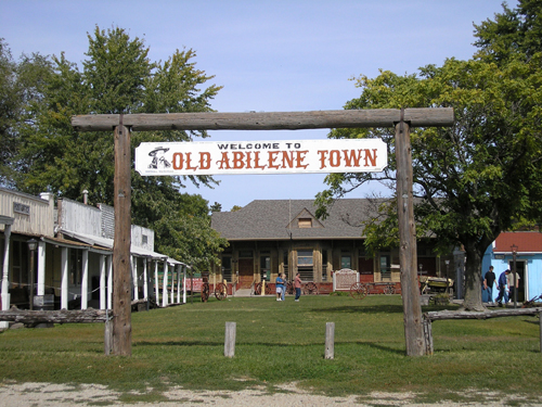 The entry gate to Old Abilene Town.