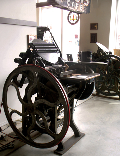 One of the presses in the museum. Credit: Whitman County Historical Society