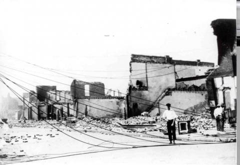 A street in the Greenwood neighborhood after the riot
