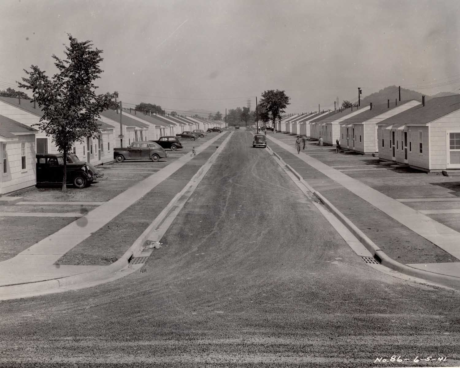 Ordnance Park Street View. Though little can be seen here, the lawns were in fact seeded as part of the NoY-4488 contract.