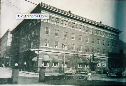 Photo taken of the Aracoma Hotel.