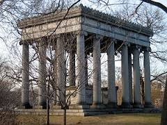 The mausoleum of Potter and Bertha Honore Potter at Graceland Cemetery