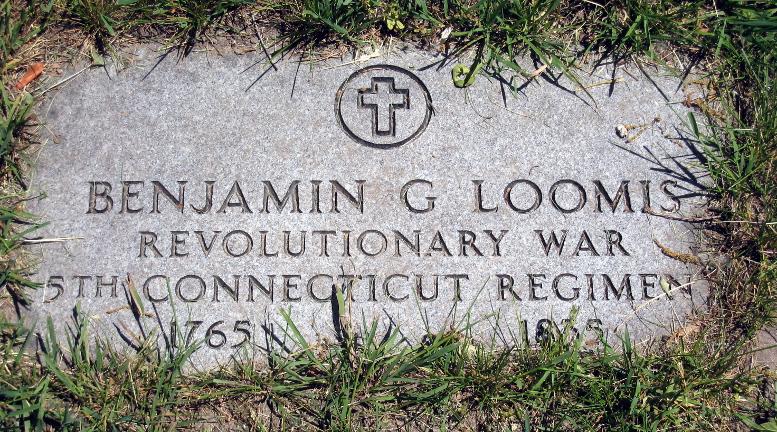 Benjamin Loomis gravestone, Mount Avon Cemetery, 2020