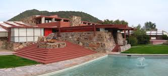 Taliesen West was Wright's home during the winter months form 1937-1959. It is a National Historic Landmark.