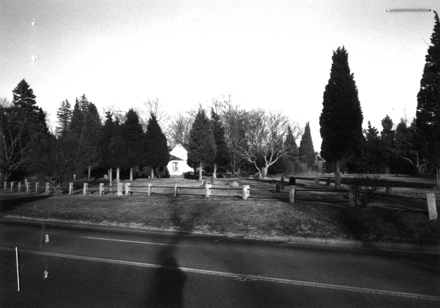 Historic photo of the Burying Ground.