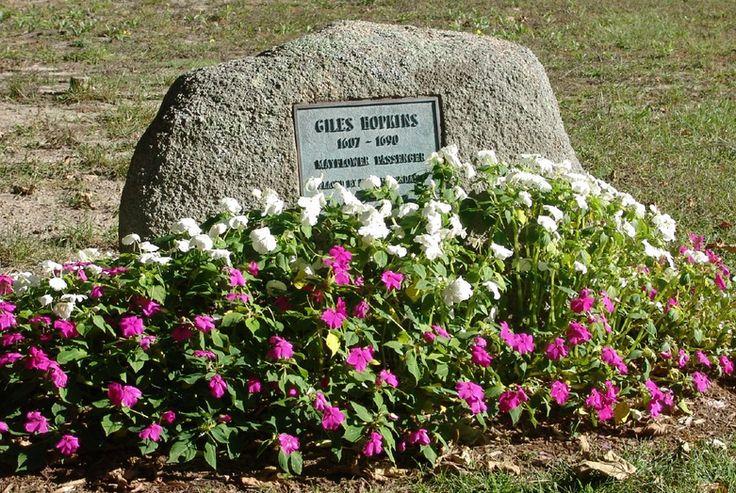 Memorial Marker for Giles Hopkins, Mayflower Pilgrim.