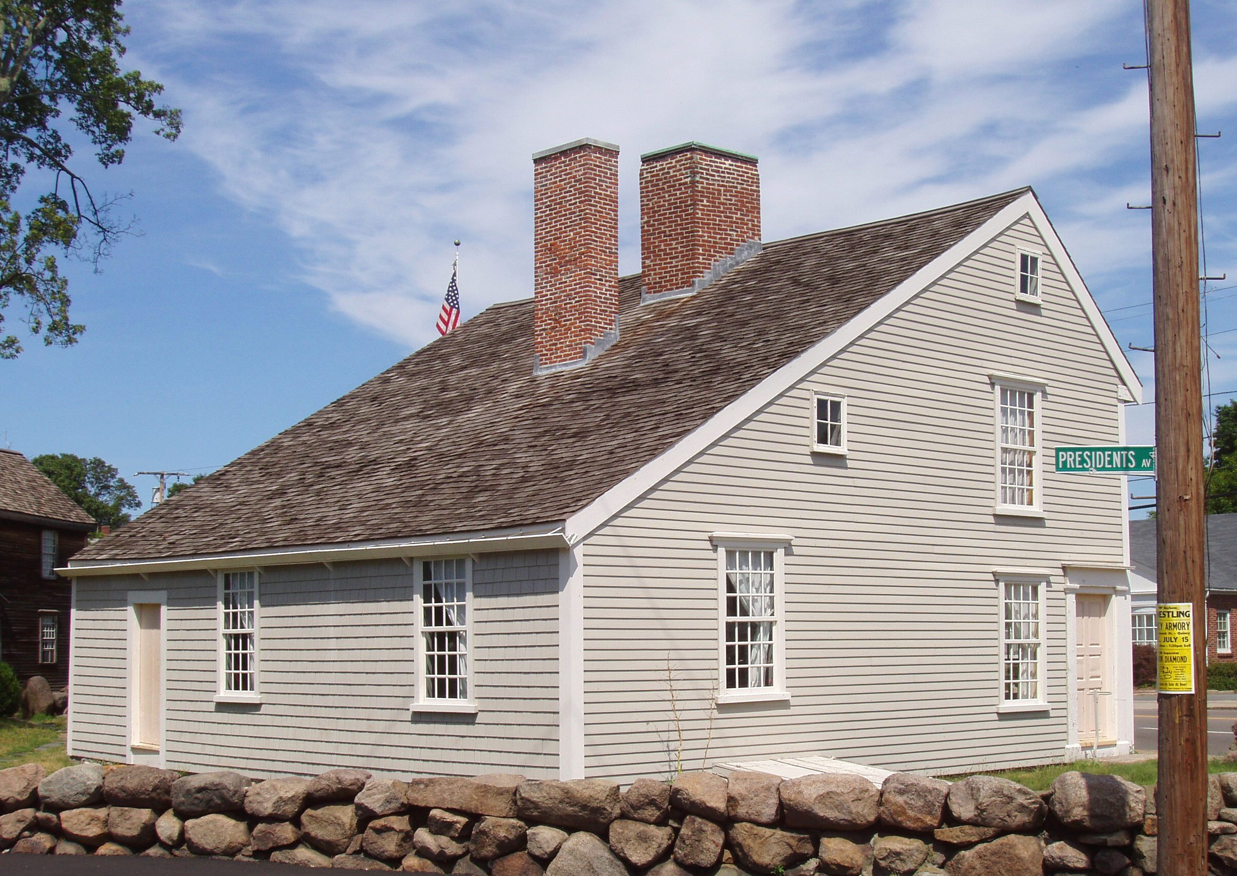 John Quincy Adams - the sixth President of the United states birthplace.