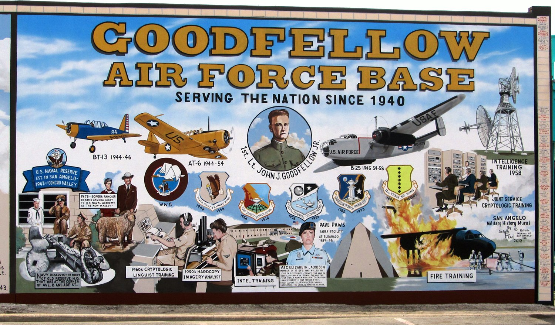 San Angelo Army Airfield Mural, 108 E. Concho