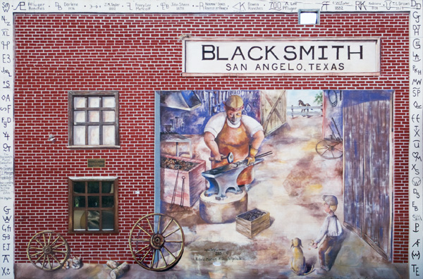Blacksmith Mural, S. Oakes & E. Concho
