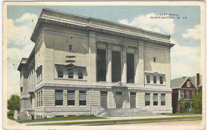 The building was designed by local architect Verus T. Ritter. This vintage postcard was produced shortly after the building's construction in 1915.