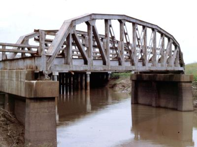 The Cache River Bridge after it was replaced and abandoned