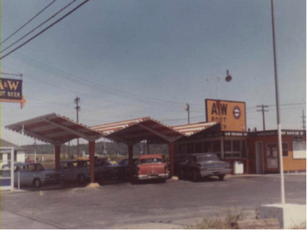 1960s Picture of the Root Beer Stand