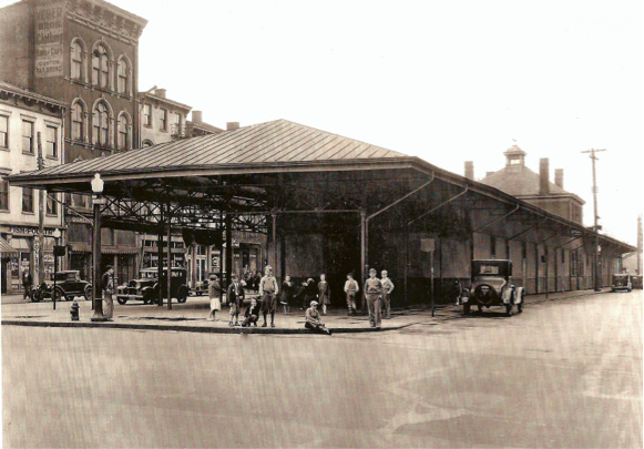 early photo of the market circa 1920s-1930s